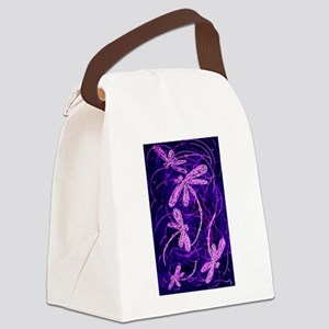 Dragonfly Disco Canvas Lunch Bag