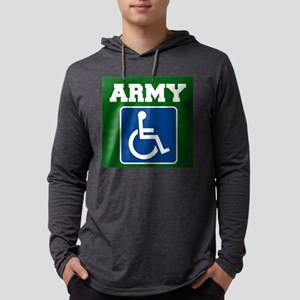 Army Handicapped Disabled Mens Hooded Shirt