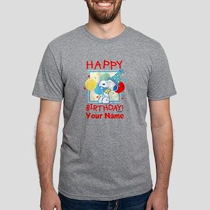 Peanuts Happy Birthday Red  Mens Tri-blend T-Shirt