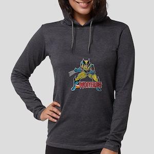 VintageWolverine light Womens Hooded Shirt