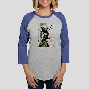 Iron Fist Vertical Cover Paint Womens Baseball Tee