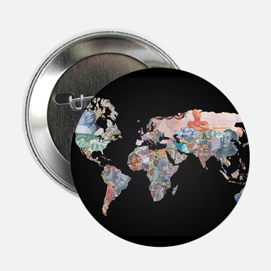"World Money Fiat Currency Map 2.25"" Button"
