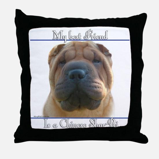 Shar-Pei Best Friend2 Throw Pillow