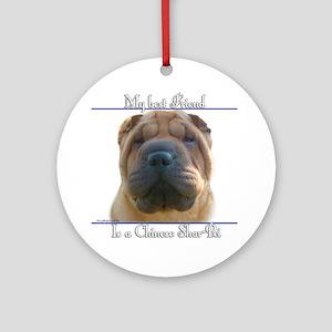 Shar-Pei Best Friend2 Ornament (Round)