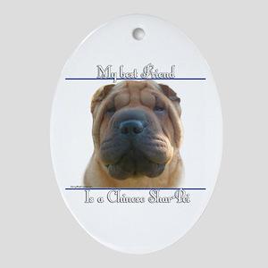 Shar-Pei Best Friend2 Oval Ornament