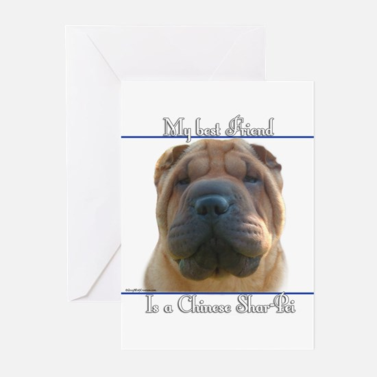 Shar-Pei Best Friend2 Greeting Cards (Pk of 10