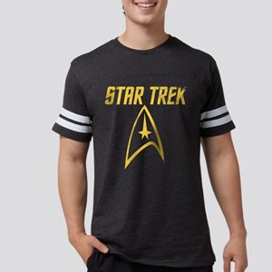 2009_retro startrek movie logo Mens Football Shirt