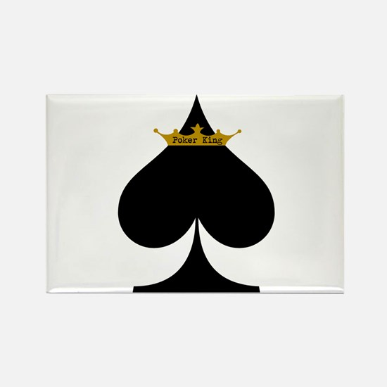 Poker King Rectangle Magnet