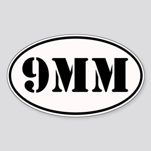 9mm Oval Design Sticker