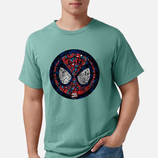 Spiderman Round Collage Mens Comfort Colors Shirt