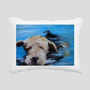 Swimmer! Rectangular Canvas Pillow