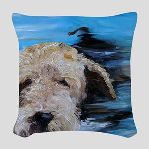 Swimmer! Woven Throw Pillow