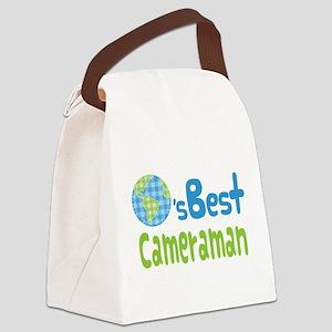 Earths Best Cameraman Canvas Lunch Bag
