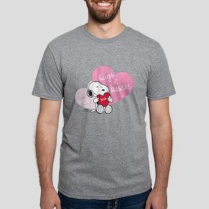 Snoopy Hugs and Kisses - Pe Mens Tri-blend T-Shirt