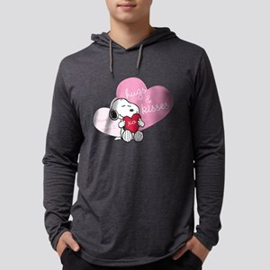 Snoopy Hugs and Kisses - Persona Mens Hooded Shirt