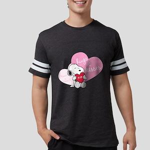 Snoopy Hugs and Kisses - Perso Mens Football Shirt