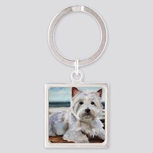 King of the Beach Square Keychain