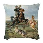 Russian Borzoi Hunt Pillow