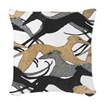Leaping Hounds Pillow