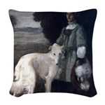 Victorian White Borzoi Pillow