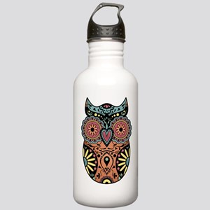 Sugar Skull Owl Color Stainless Water Bottle 1.0L