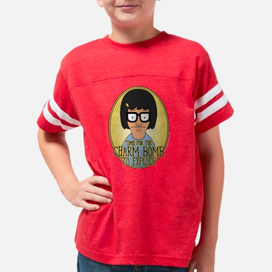 Bob's Burgers Tina Charm Bomb Youth Football Shirt