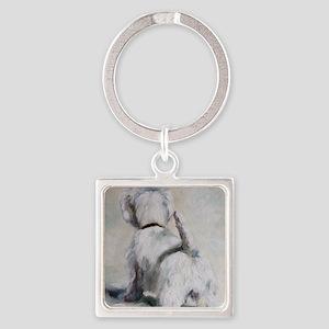 Guard Dog Square Keychain