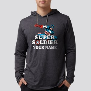 Captain America Super Soldier Pe Mens Hooded Shirt
