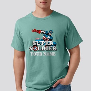 Captain America Super So Mens Comfort Colors Shirt