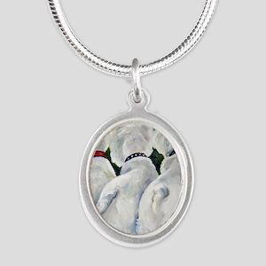 three Amigos Silver Oval Necklace