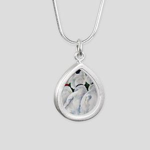 three Amigos Silver Teardrop Necklace