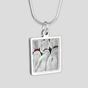 three Amigos Silver Square Necklace