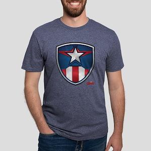 Cap Shield Mens Tri-blend T-Shirt