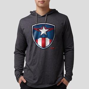 Cap Shield Mens Hooded Shirt