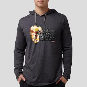 Ghost Rider Logo Mens Hooded Shirt