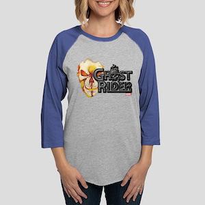 Ghost Rider Logo Womens Baseball Tee