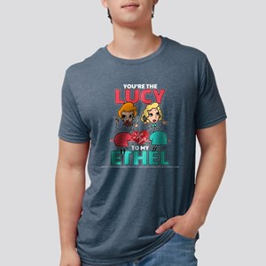 Lucy to my Ethel Dark Mens Tri-blend T-Shirt