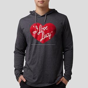 I Love Lucy: Logo Dark Mens Hooded Shirt