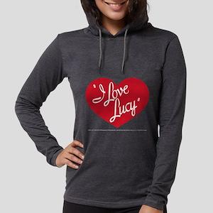 I Love Lucy: Logo Dark Womens Hooded Shirt