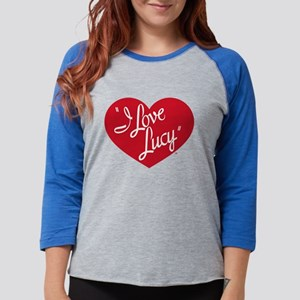 I Love Lucy: Logo Dark Womens Baseball Tee