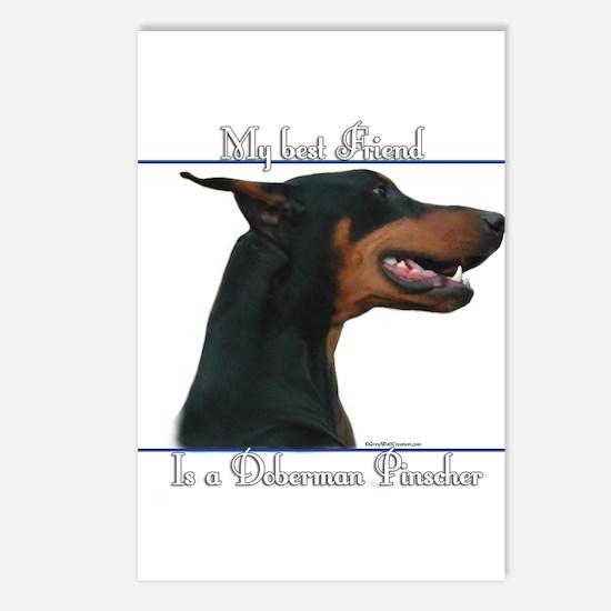 Dobie Best Friend2 Postcards (Package of 8)