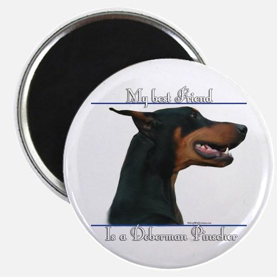 Dobie Best Friend2 Magnet