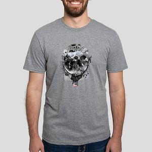 Moon Knight Grunge Mens Tri-blend T-Shirt