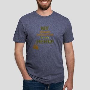 Dog Tag Hero Granddaughter Mens Tri-blend T-Shirt
