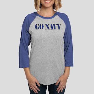 Go Navy Womens Baseball Tee