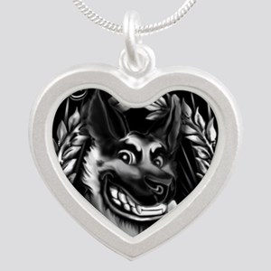 IN DOGS WE TRUST  Silver Heart Necklace
