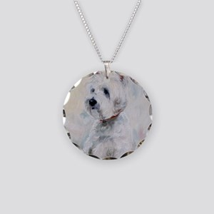 Watch Dog Necklace Circle Charm