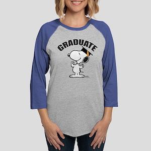 Snoopy - Graduate Womens Baseball Tee