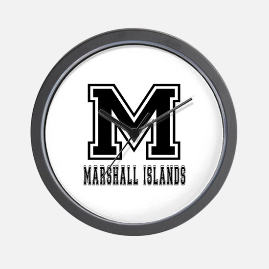 Marshall Islands Designs Wall Clock