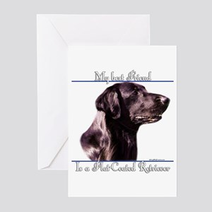 Flat Coat Best Friend2 Greeting Cards (Package of